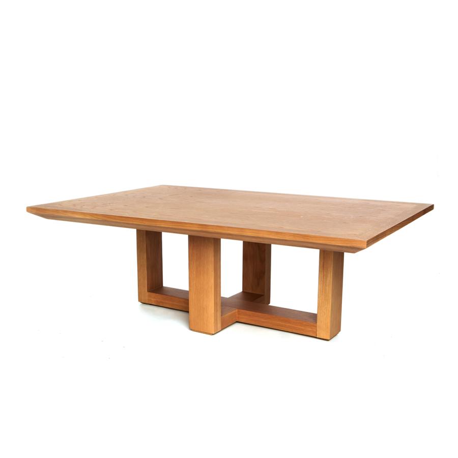 mesa centro pie cruceta con tapa en madera el globo muebles