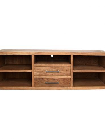 Mesa centro hierro y madera el globo muebles for Disenar estanterias on line