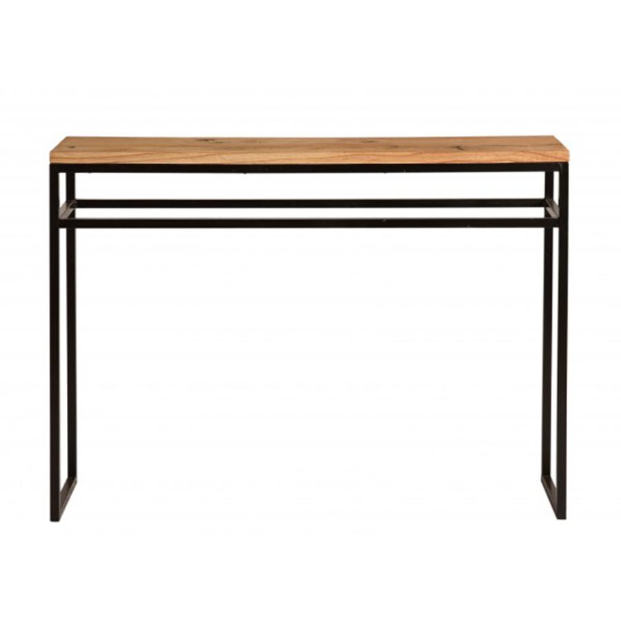 Consola hierro y madera 110 for Muebles de hierro y madera