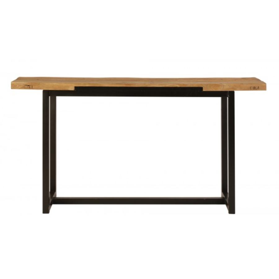 Consola hierro y madera 160 el globo muebles - Mueble recibidor madera ...