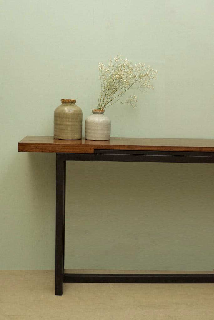 Consola hierro y madera 160 el globo muebles - Muebles hierro y madera ...