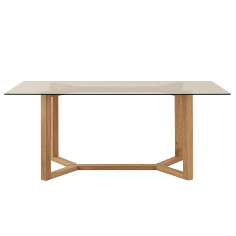 Pie mesa comedor y el globo muebles for Mesas de comedor cristal y madera