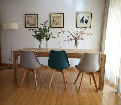Sillas soft gris y turquesa en comedor el globo muebles for Sillas comedor turquesa