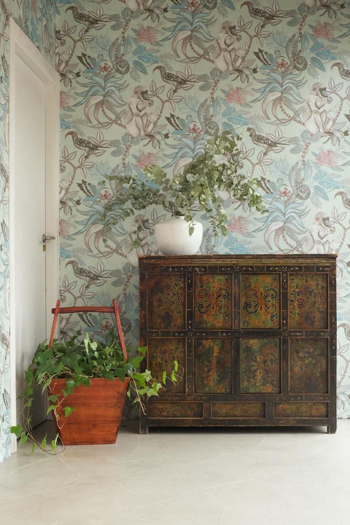 Mueble tibetano antiguo con cubo el globo muebles - El globo muebles madrid ...