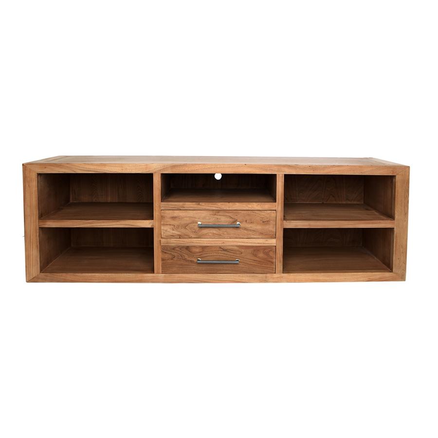 Mueble de tv recto con 5 huecos y 2 cajones el globo muebles - Mi mueble online ...