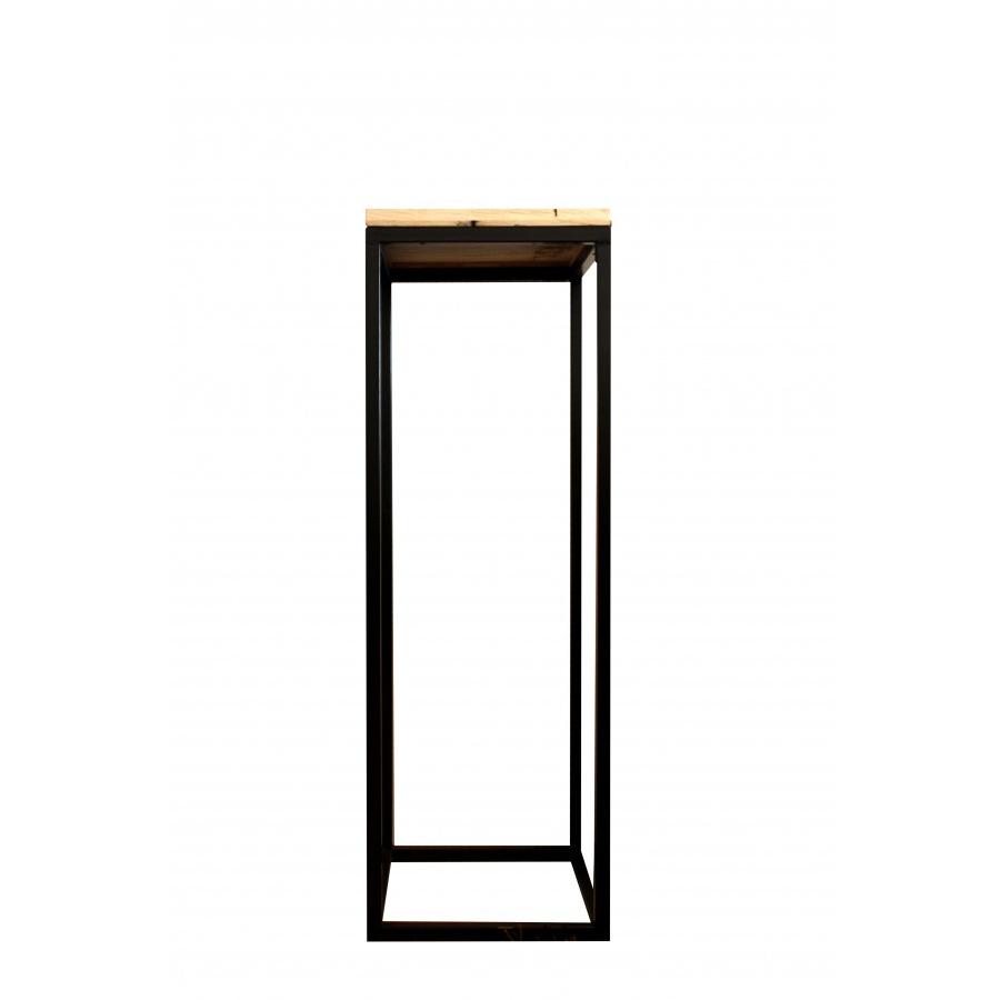 Peana hierro y madera el globo muebles for Muebles industriales madera y hierro