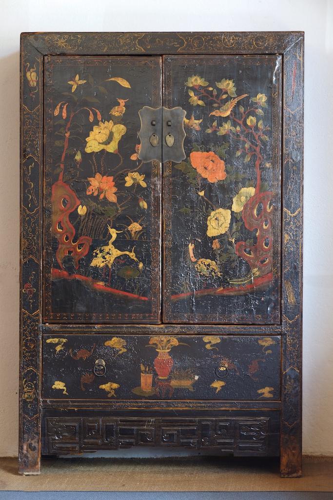 Armario De Solteiro Para Quarto ~ Armario de boda antiguo negro decorado El Globo Muebles