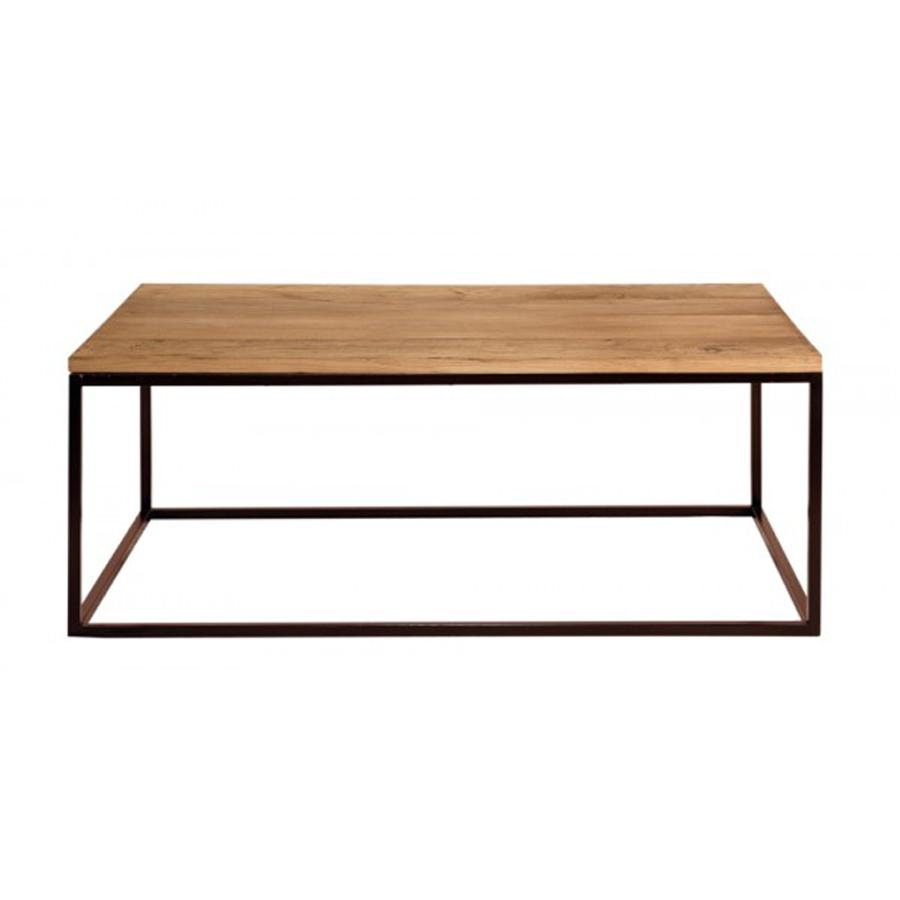 Mesa centro hierro y madera el globo muebles for Centros de mesa de madera