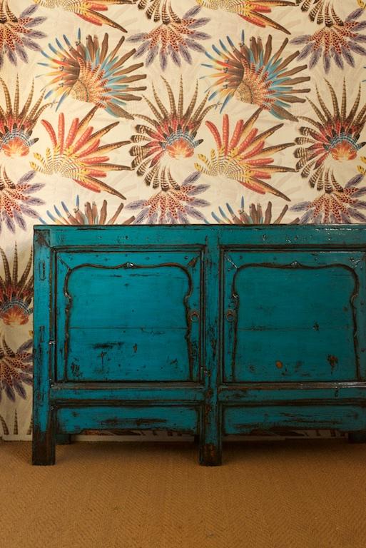Papel de pared de plumas el globo muebles - Papel contact para muebles ...