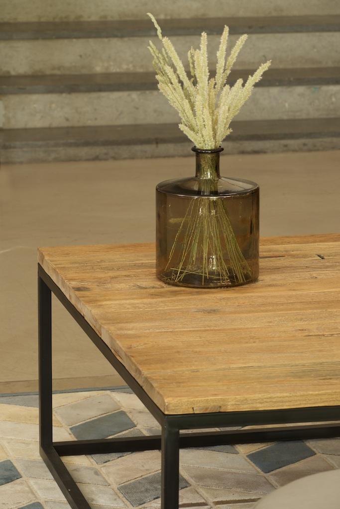 Mesa centro hierro y madera el globo muebles for Muebles industriales madera y hierro