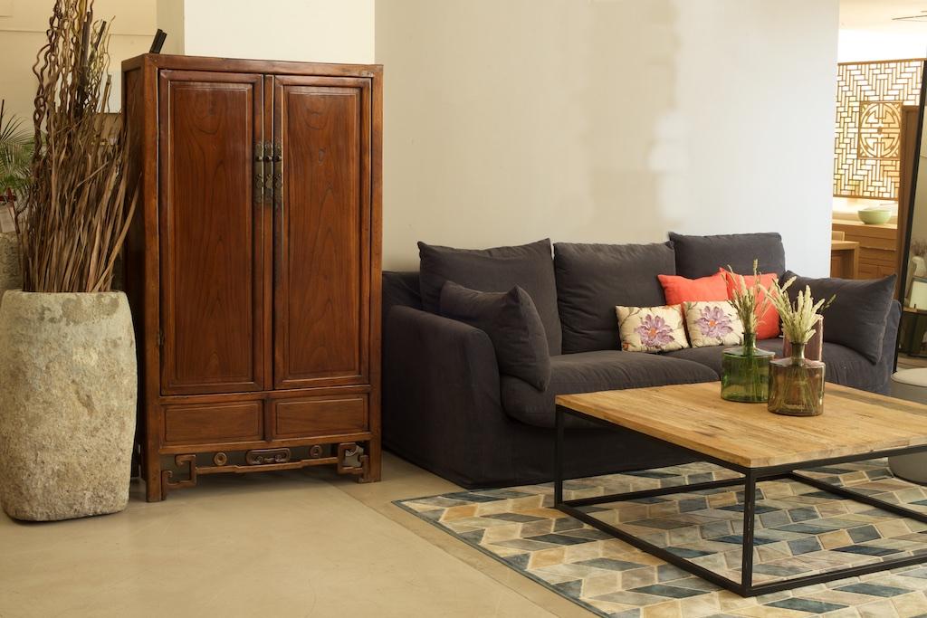 Mesa centro hierro y madera el globo muebles - Mesas de centro madera y hierro ...